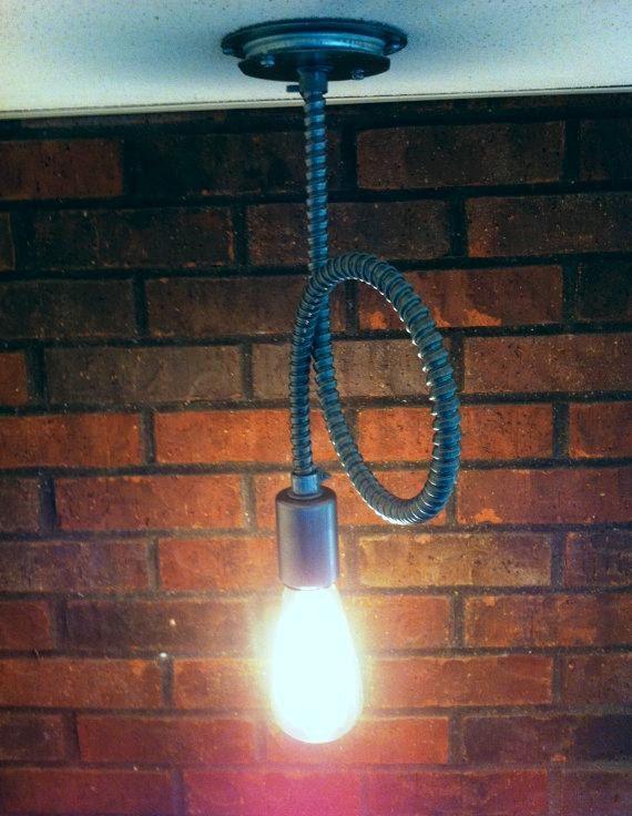 industrial lighting bare bulb light fixtures. flex conduit industrial pendant light exposed bare bulb modern lighting very raw fixtures e