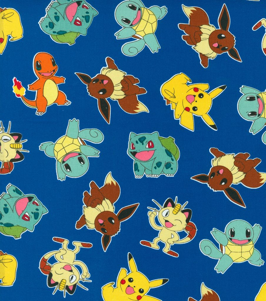Pokemon Character Blue Cotton Fabric | Sewing | Pinterest