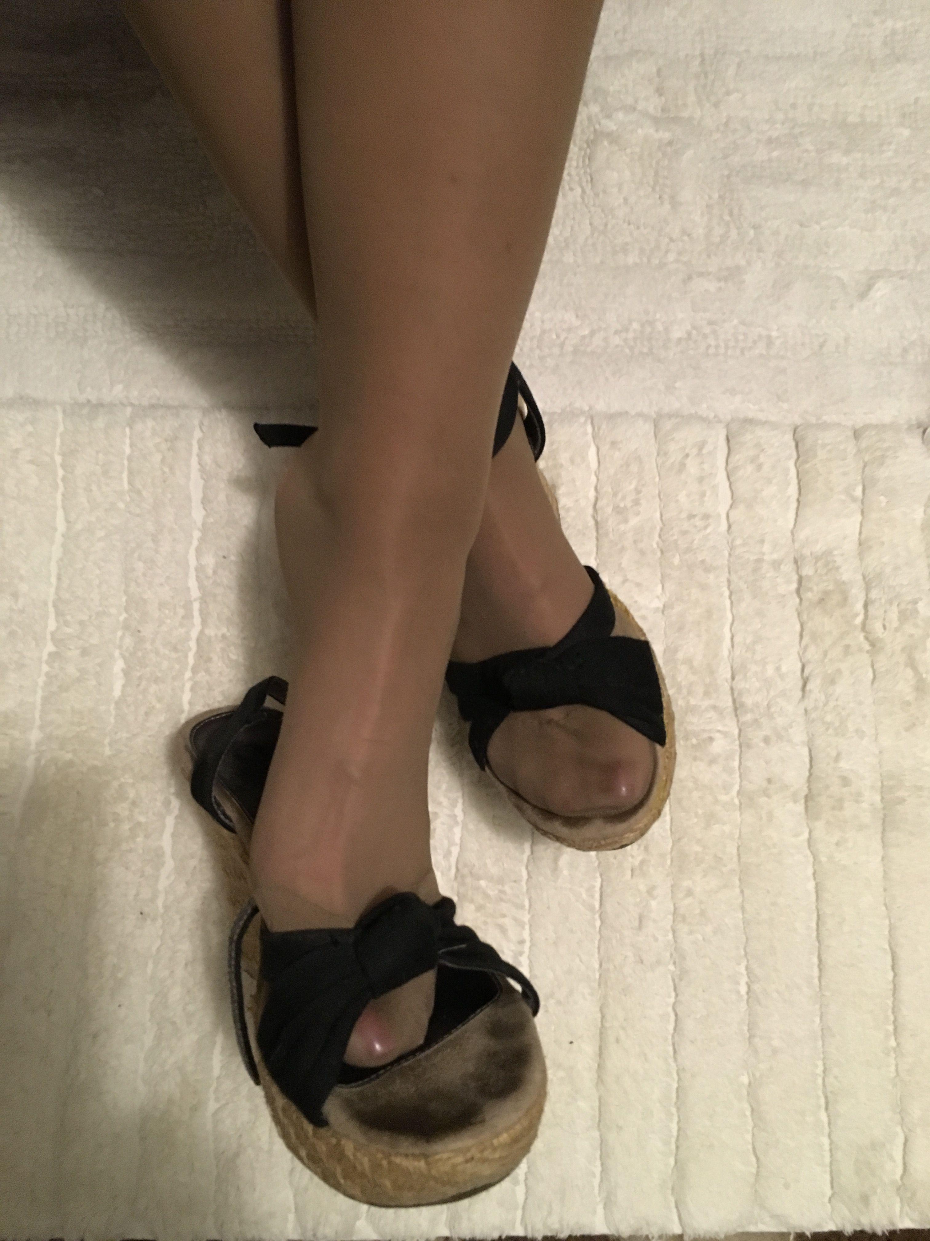fafd116913 Reinforced toe pantyhose feet in wedges | Reinforced Toes ...