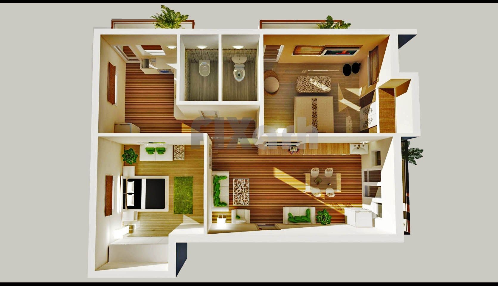House design two bedroom - House Bedroom House Plans