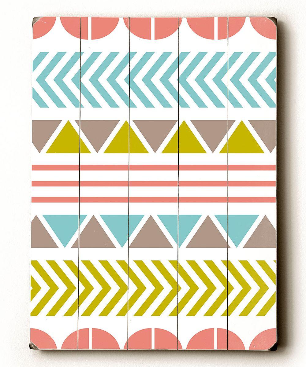 Wacky Pattern Wood Plaque Zulily Art Plaque Wall Patterns Artehouse