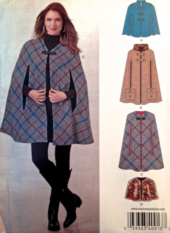 Plus Size Misses CAPE Sewing Pattern - New Look Capes & Capelets - 3 ...