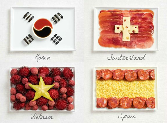 how to make an canada flag out of fruits