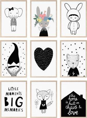 monochrome posters kids room  decoration  Pinterest  방 꾸미기, 스티커 및 ...