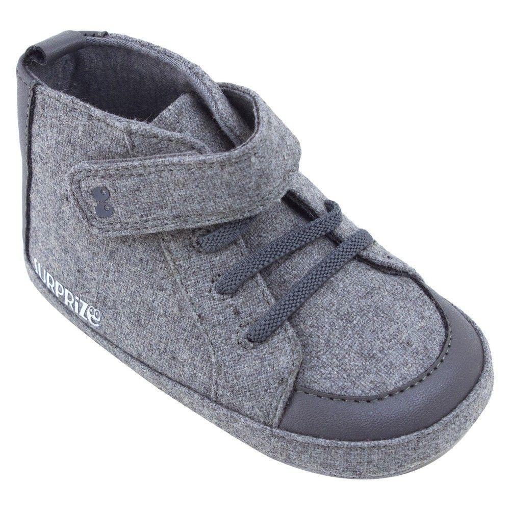 Baby boysu surprize by stride rite brad high top soft sole shoes