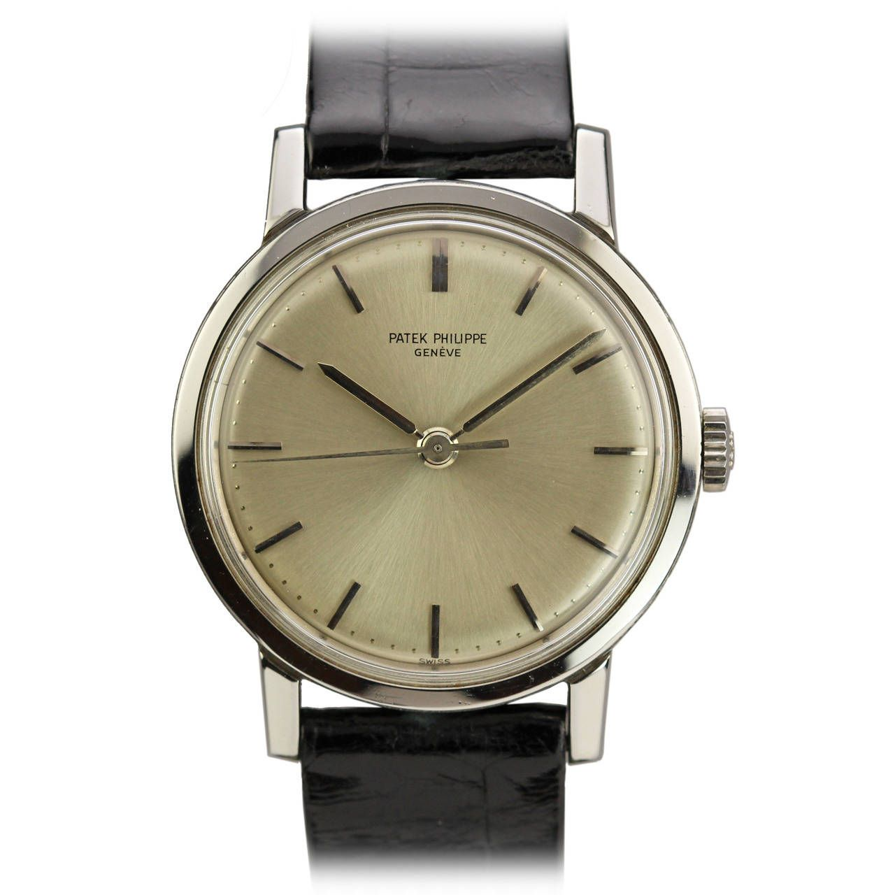 Stainless Steel Calatrava Wristwatch Ref 3483 circa 1960s by Patek Philippe
