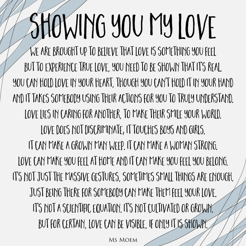 Showing You My Love