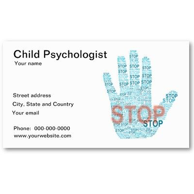 Child Psychologist Business Card Zazzle Com Psychologist Business Card Child Psychologist Psychologist