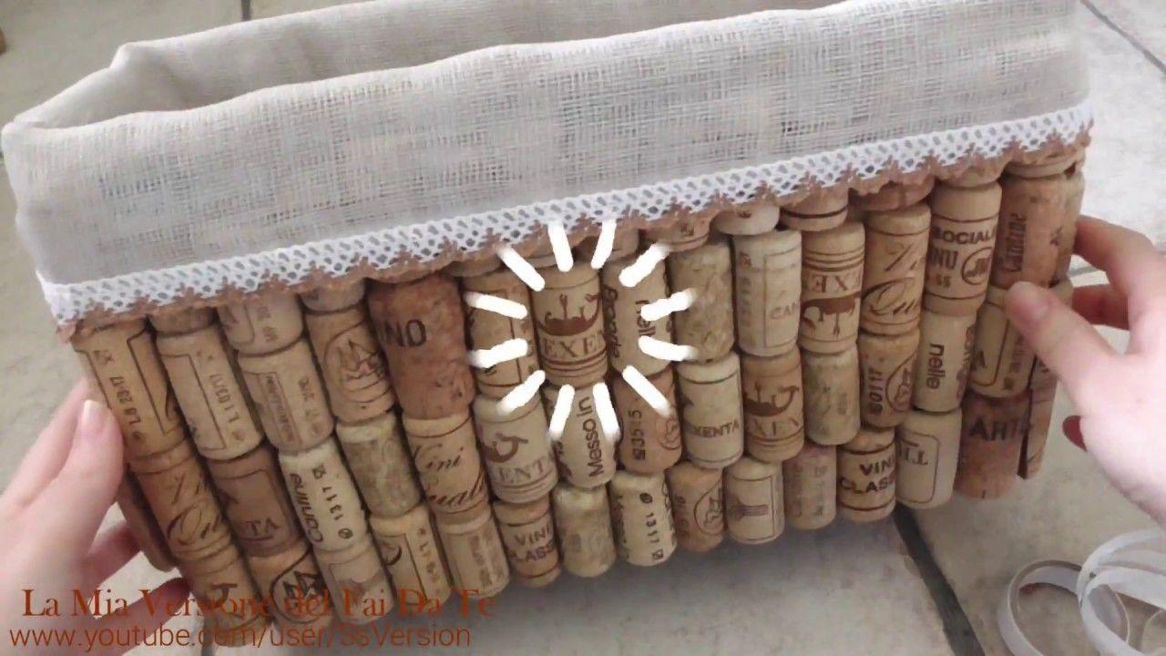 Riciclare scatole di cartone e tappi di sughero tutorial