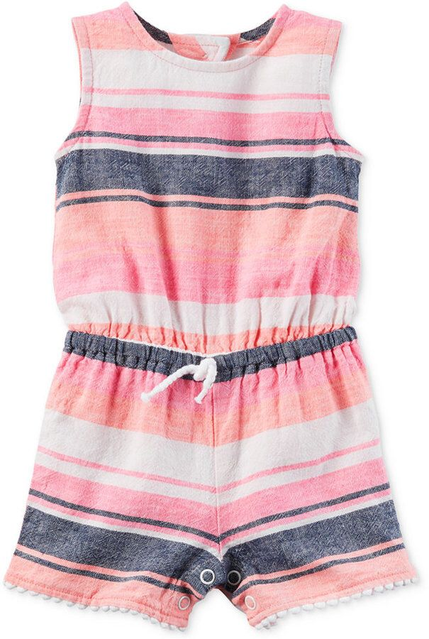 Carter S Mixed Stripe Romper Baby Girls 0 24 Months Little Girl