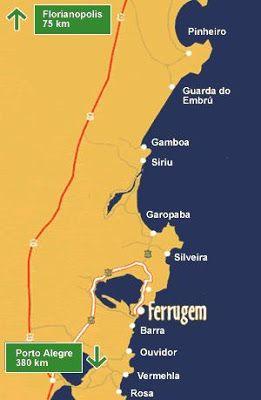 Praia Da Ferrugem Playas De Brasil Playas Mas Bellas Praia