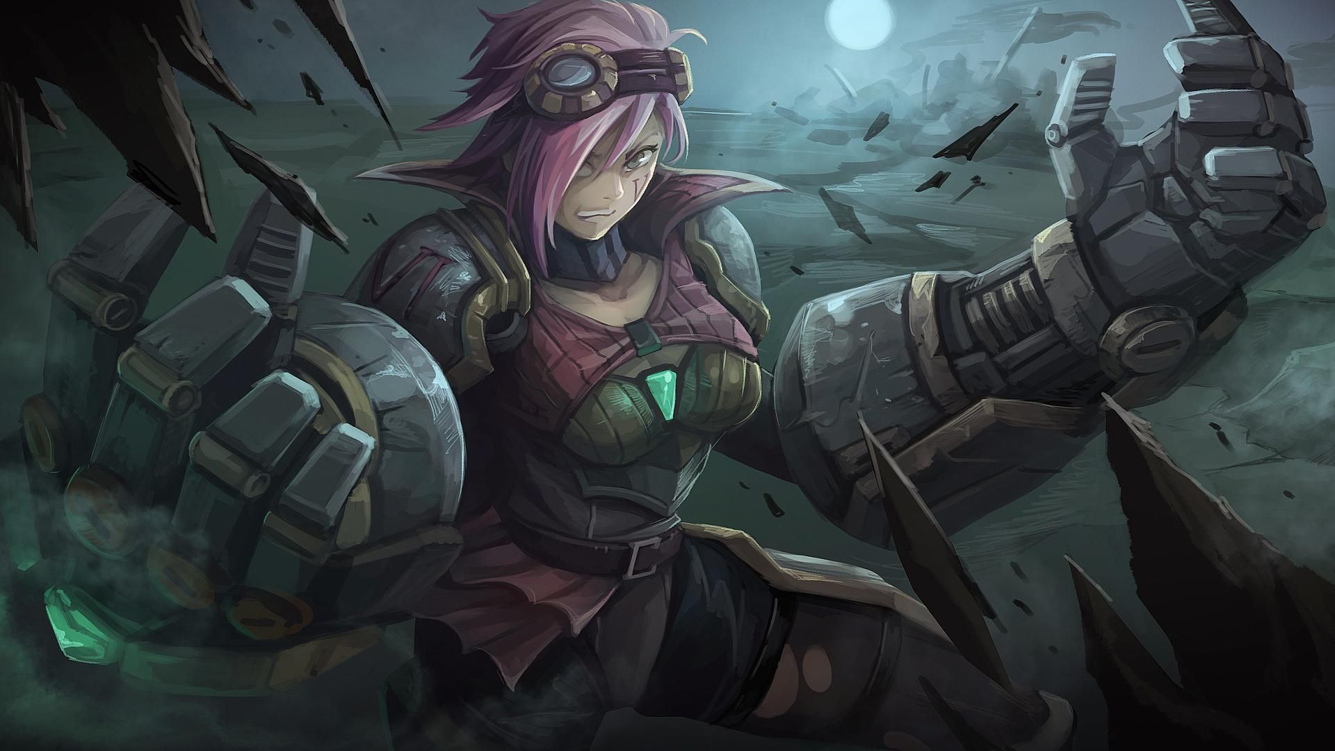 Pin By Corve Strife On League Of Legends Art Vi League Of Legends League Of Legends Game League Of Legends