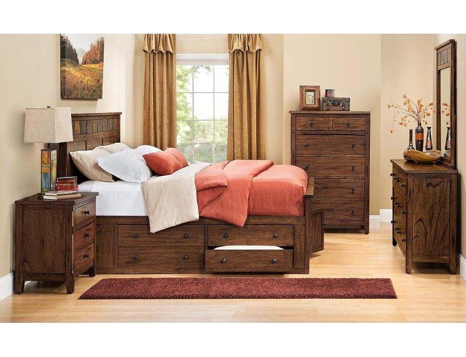 Add Style And Function To The Bedroom The Santa Fe Collection Has