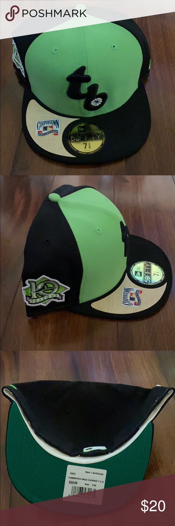 Polaroid Logo  OFFICIAL Baseball Cap Hat Strapback GREEN NWOT