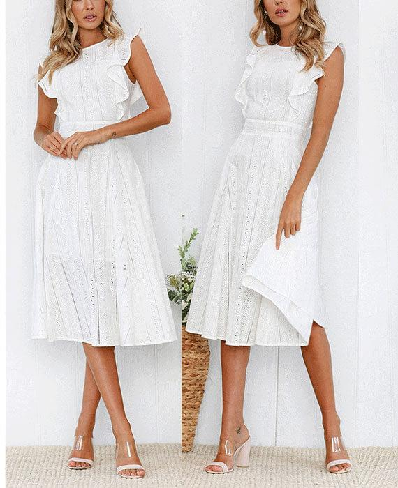 Lotus Lace Sleeveless Midi Dress -   17 white dress Midi ideas