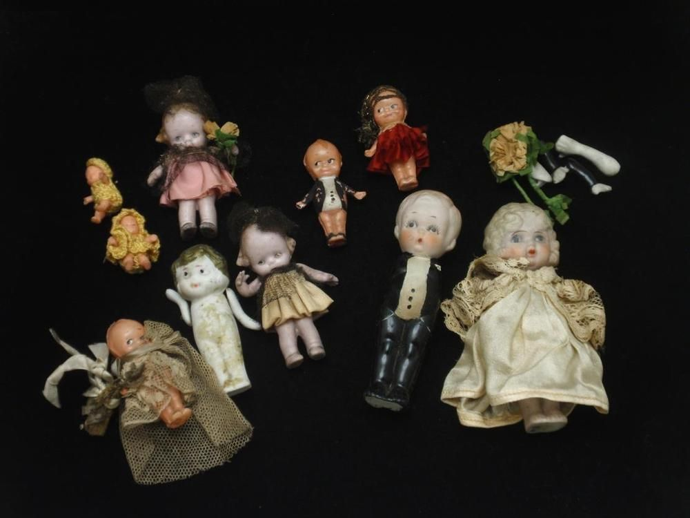 Lot of Small Porcelain Dolls As Is Japan Nippon Germany #Unbranded