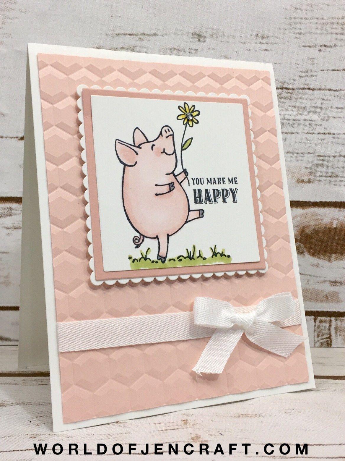 Скрапбукинг открытка на новый год хрюшка, днем рождения