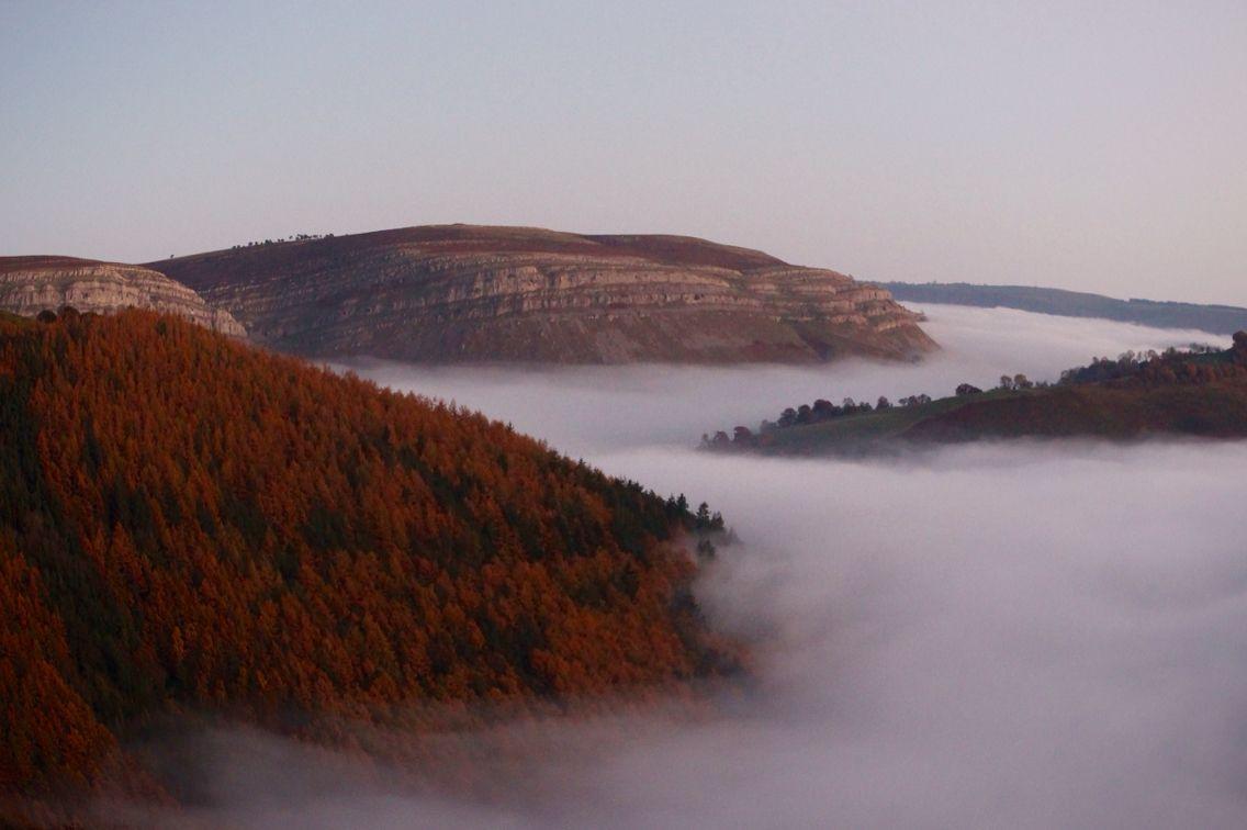 Mist-looking down the valley towards Llangollen