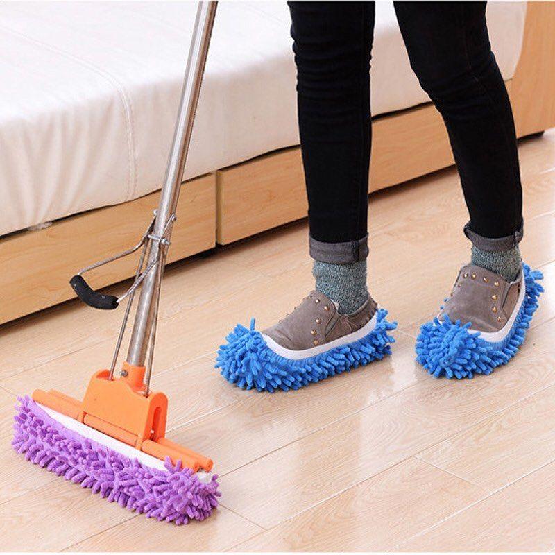 Slipper Dust Mop Clean Shoe Cleaning Towel Clean Floor Cleaning Tools