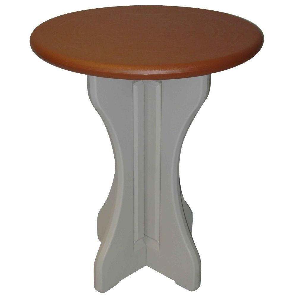 Leisure Accents Redwood 30 in. Resin Patio Bistro Table ...