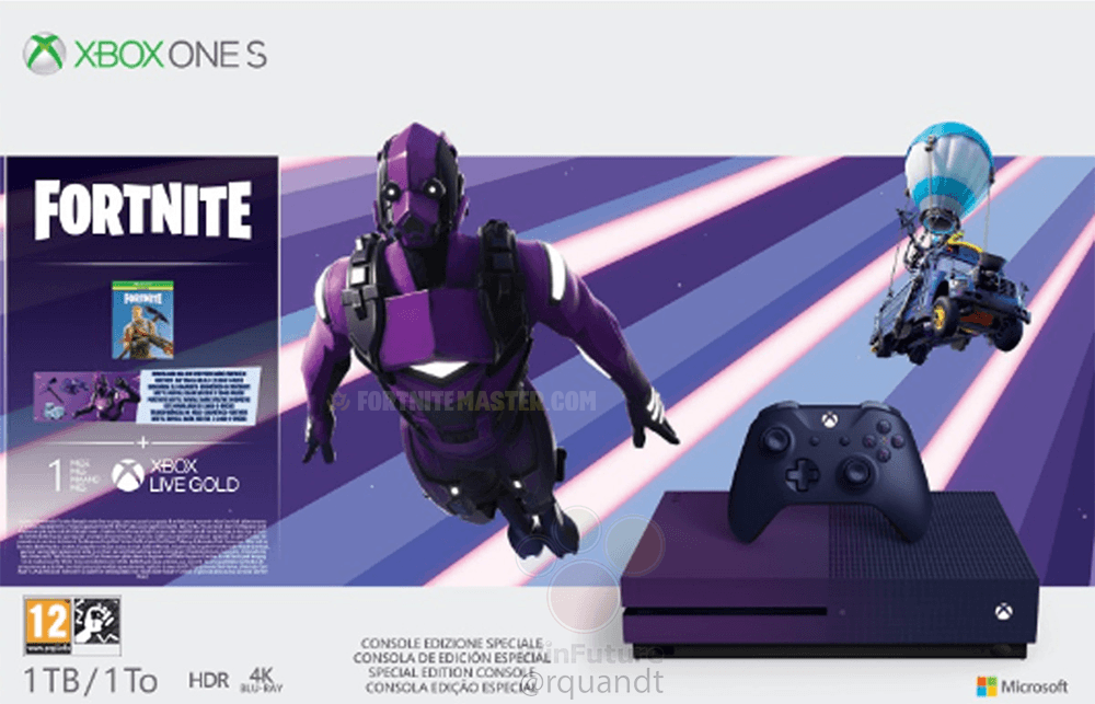 Limited Edition Xbox One S Includes Exclusive Fortnite Dark Vertex