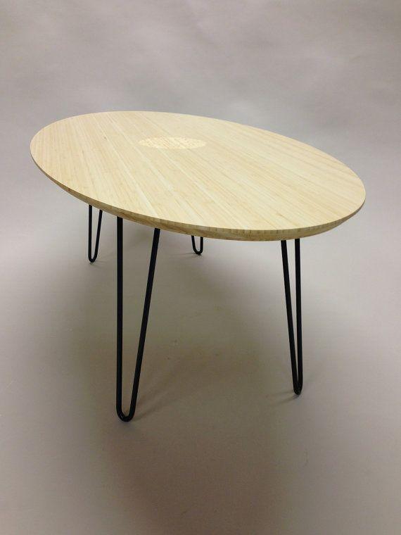 Handmadebamboo Elliptical Coffee Table With By Westoaklandwood Coffee Table Pinterest