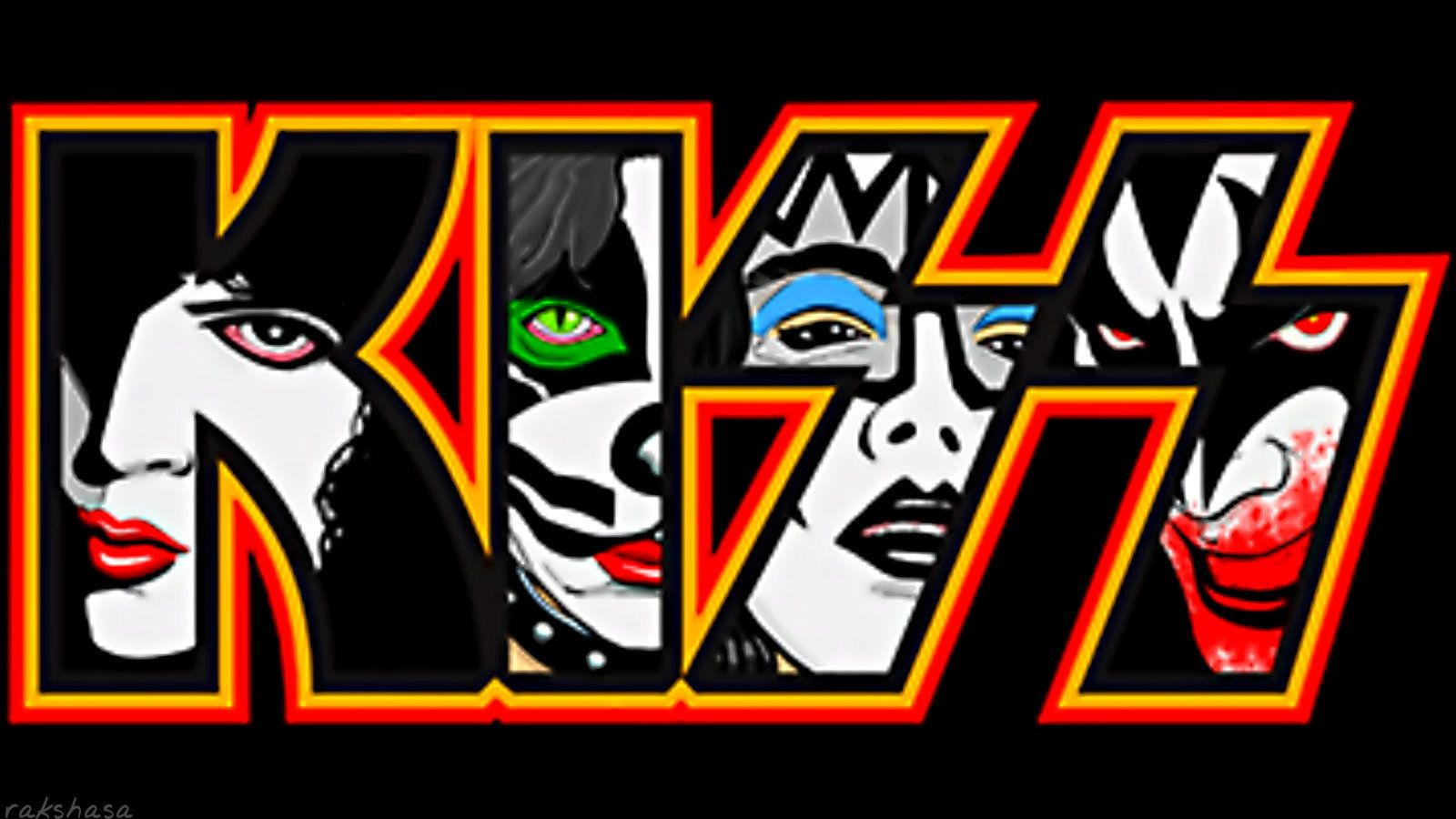 Kiss Paul Peter Ace And Gene Rock And Roll Tattoo Kiss Logo