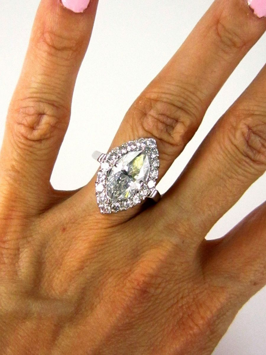 Marquise diamond setting ideas - East West Marquise Diamond Ring Settings Marquise Diamond Solitaire Engagement Pave Ring Anniversary Ring