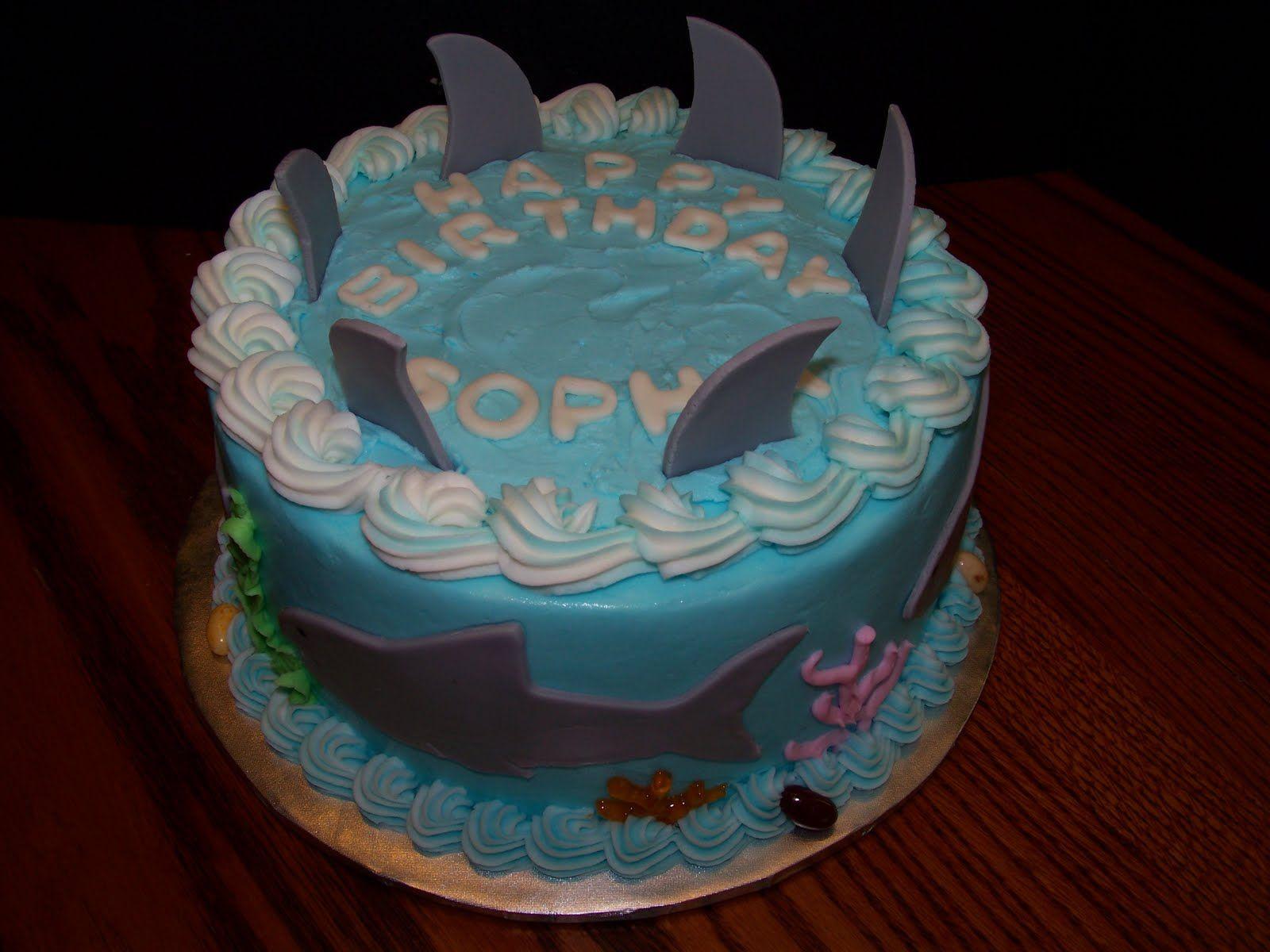 Shark Birthday Cakes