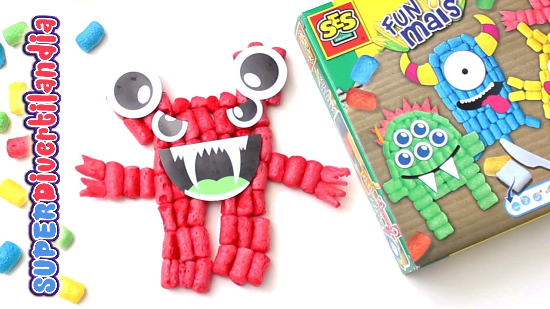 Monstruos Fun Mais! Juguete de manualidades con gusanitos!