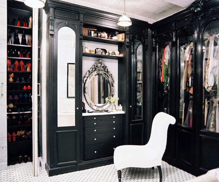dark in closet dark grey love the dark closet and white floors glamorous black custom design