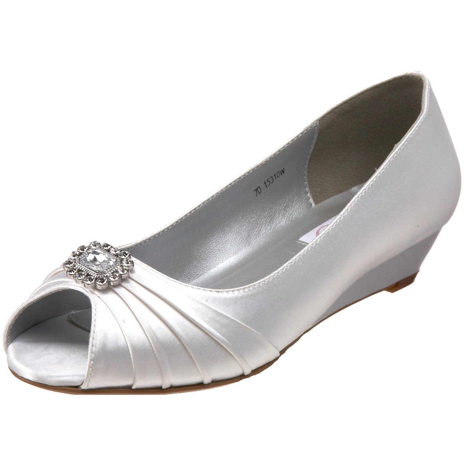 cute for low heels Dyeable wedding shoes, Low heel
