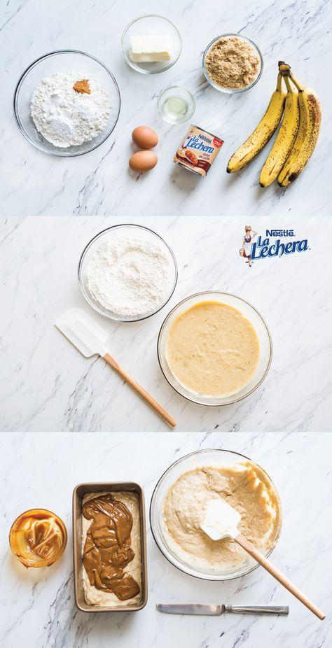 No es fácil ver postres caseros como este espiral de pan de plátano con dulce de leche. Como usas dulce de leche de La Lechera, no tengas ninguna duda que este desayuno será delicioso y sabrosísimo. ¡A tu familia le encantará este capricho de buena mañana!