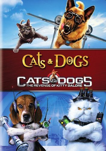 Cats Dogs Cats Dogs The Revenge Of Kitty Galore 2 Discs Dvd Best Buy Dog Cat Dog Movies Cat Vs Dog