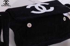 6a4be059c2055b CHANEL Precision CC White Logo Black Velour Teddy Plush Bag VIP Gift ...