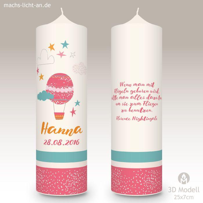 Mla Hanna Taufe Taufkerze Kerzen Und Zur Taufe