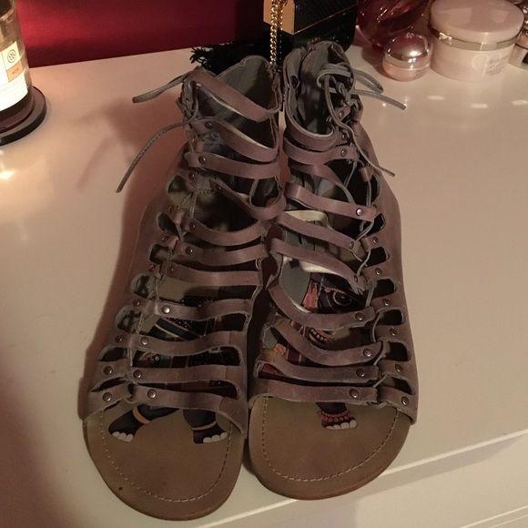 Gladiators Dolce Vita gray lace up gladiators Dolce Vita Shoes