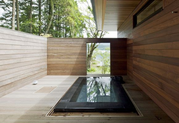 The Art of the Japanese Bath Floating House between Sea and
