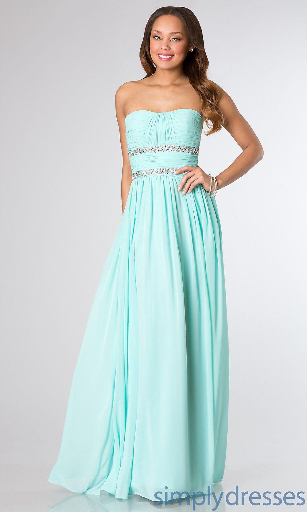 Floor Length Strapless Prom Dress -Simply Dresses | Strapless prom ...
