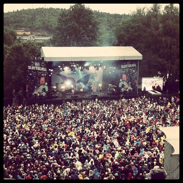 Slottsfjell festival in Tønsberg, Norway.