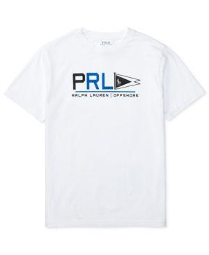 e30296f12 Ralph Lauren Graphic-Print Short-Sleeve Cotton Jersey T-Shirt, Big Boys (8- 20) - Pure White XL