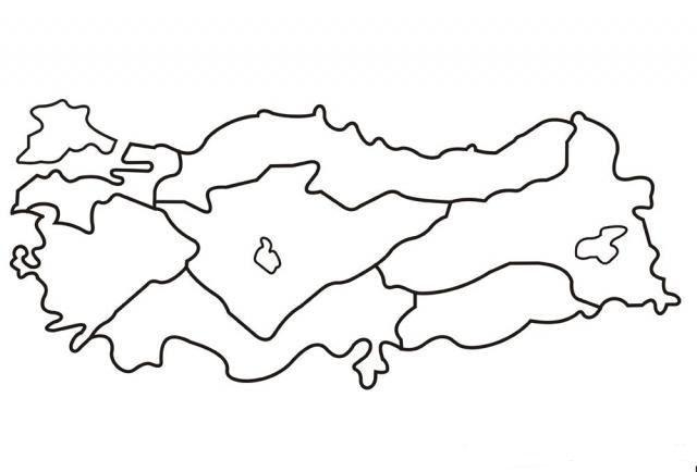 Turkiye Haritasi Boyama Sayfalari