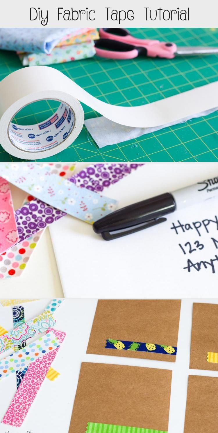Diy Fabric Tape Tutorial #fabrictape