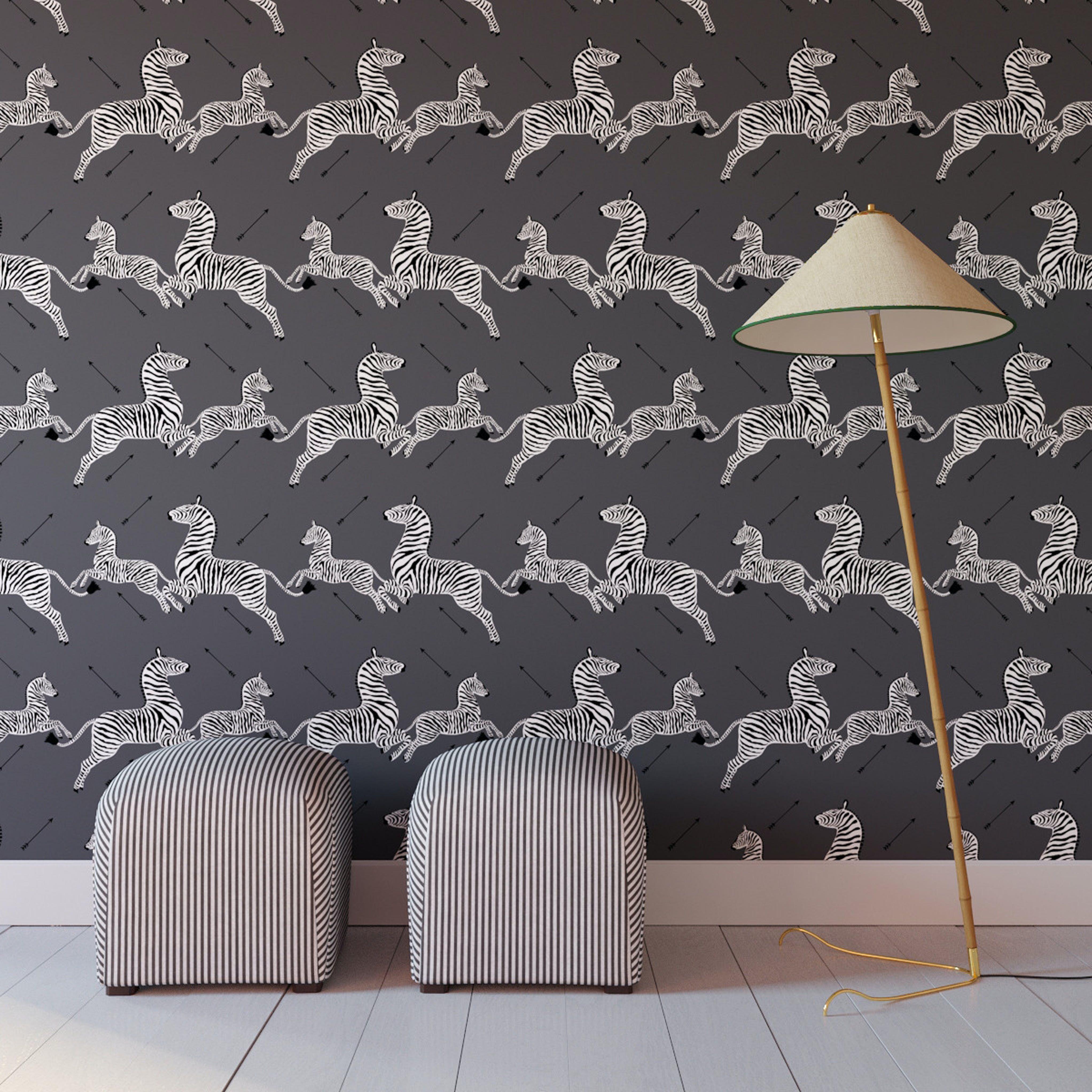 Slate Zebra Peel and Stick Wallpaper Roll in 2020