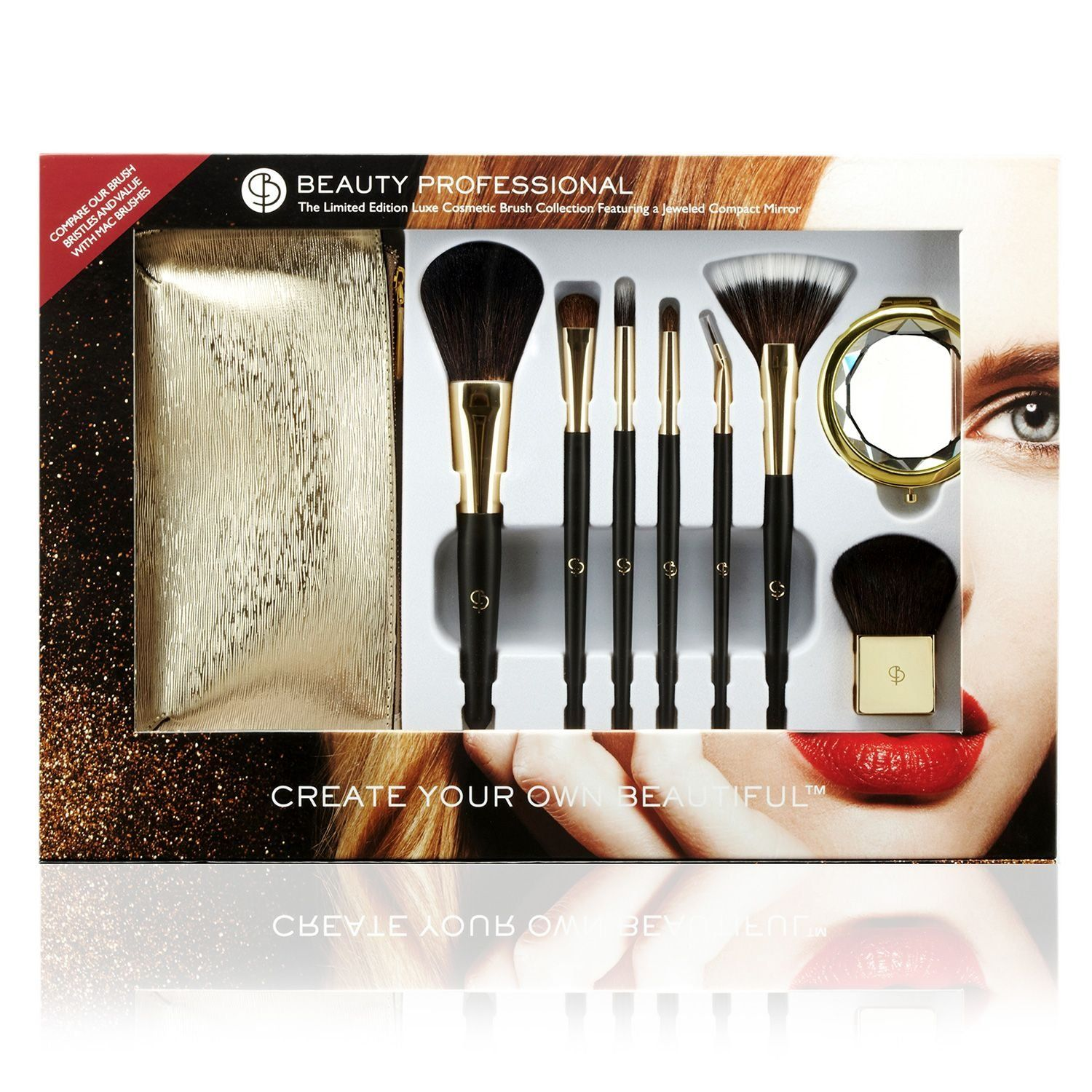 Beauty Professional Luxe Cosmetic Brush Collection