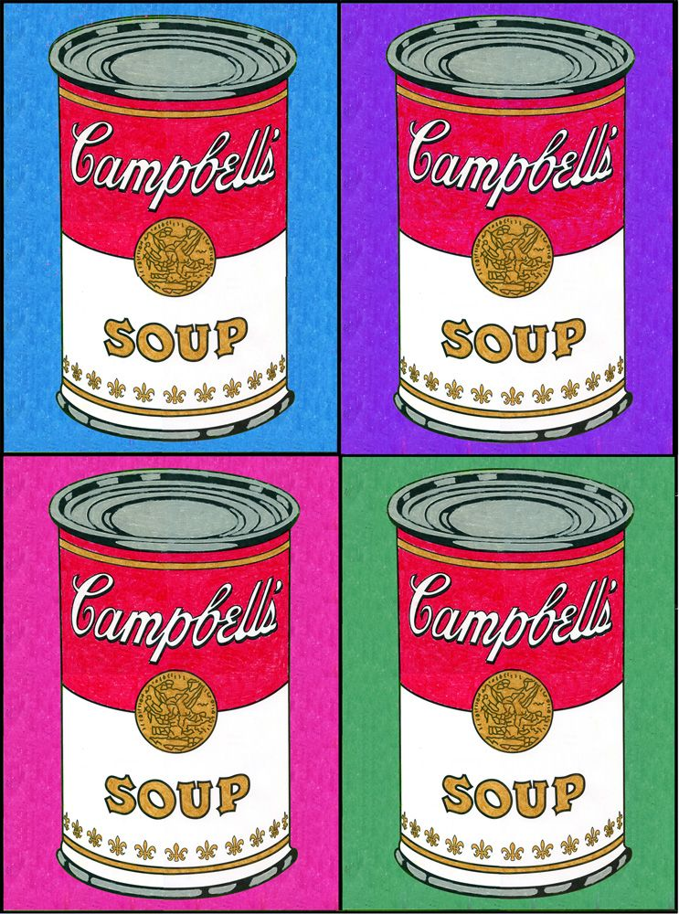Campbell S Soup Can Art Projects For Kids Andy Warhol Pop Art Andy Warhol Art Warhol Art