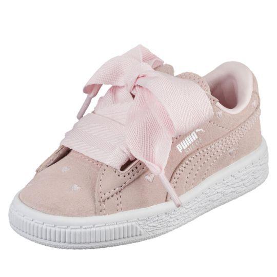 06291fb4a3e5 Suede Heart Valentine Infant Training Shoes