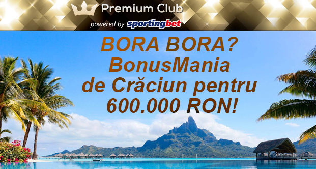 Editie speciala de Craciun la Premium Club Sportingbet - Ponturi Bune