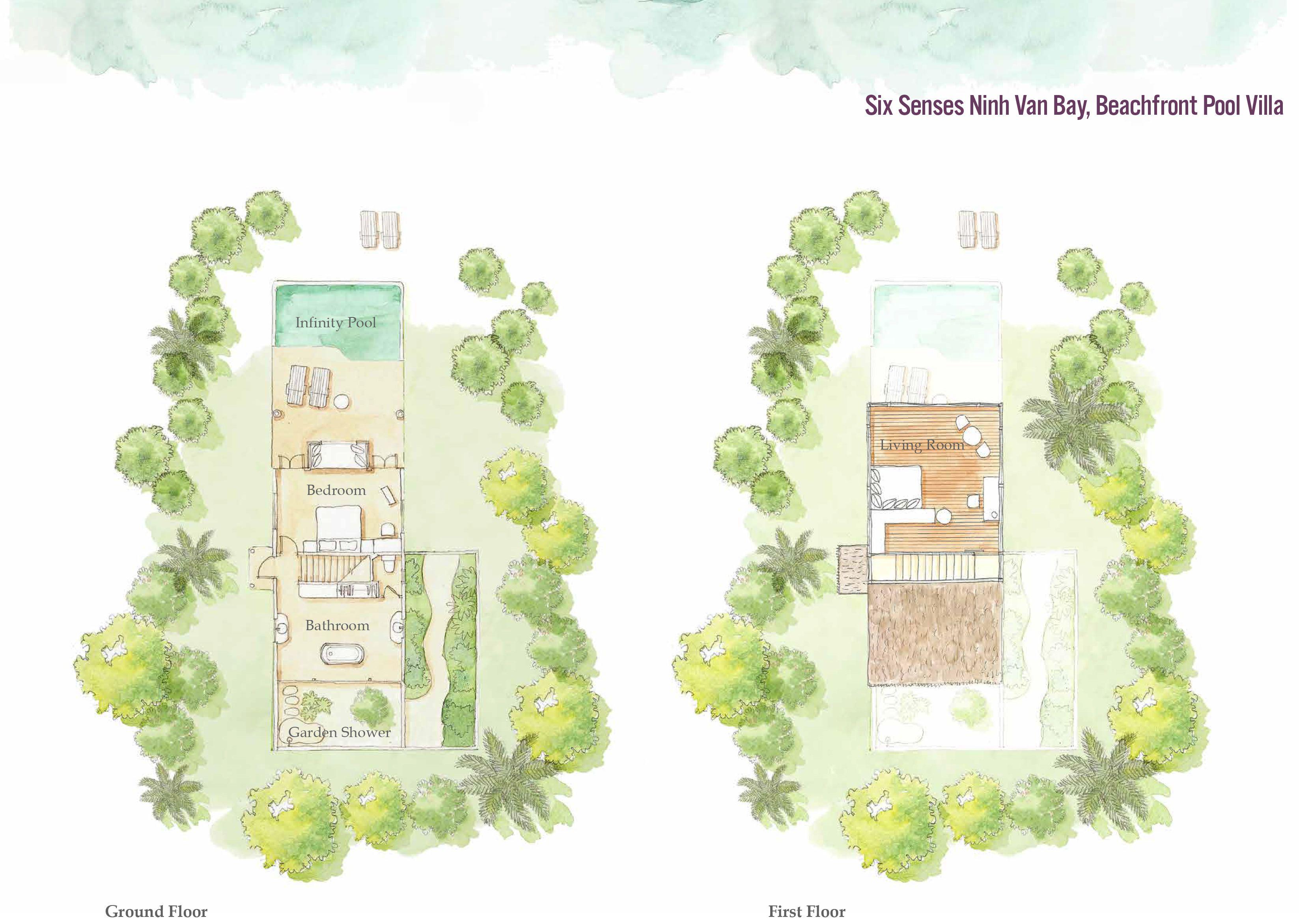 Six Senses Ninh Van Bay Beachfront Pool Villa フロア