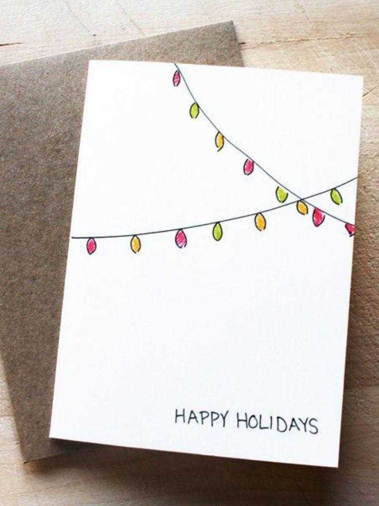 10 idées de cartes de vœux à faire soi-même repérées sur pinterest